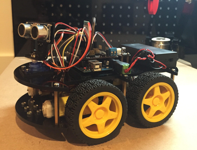 hc-06 bluetooth module arduino keyboard control robot