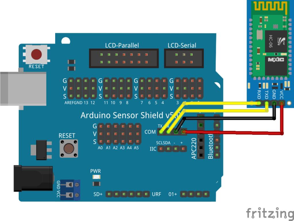 hc-06 bluetooth module arduino keyboard control wiring diagram