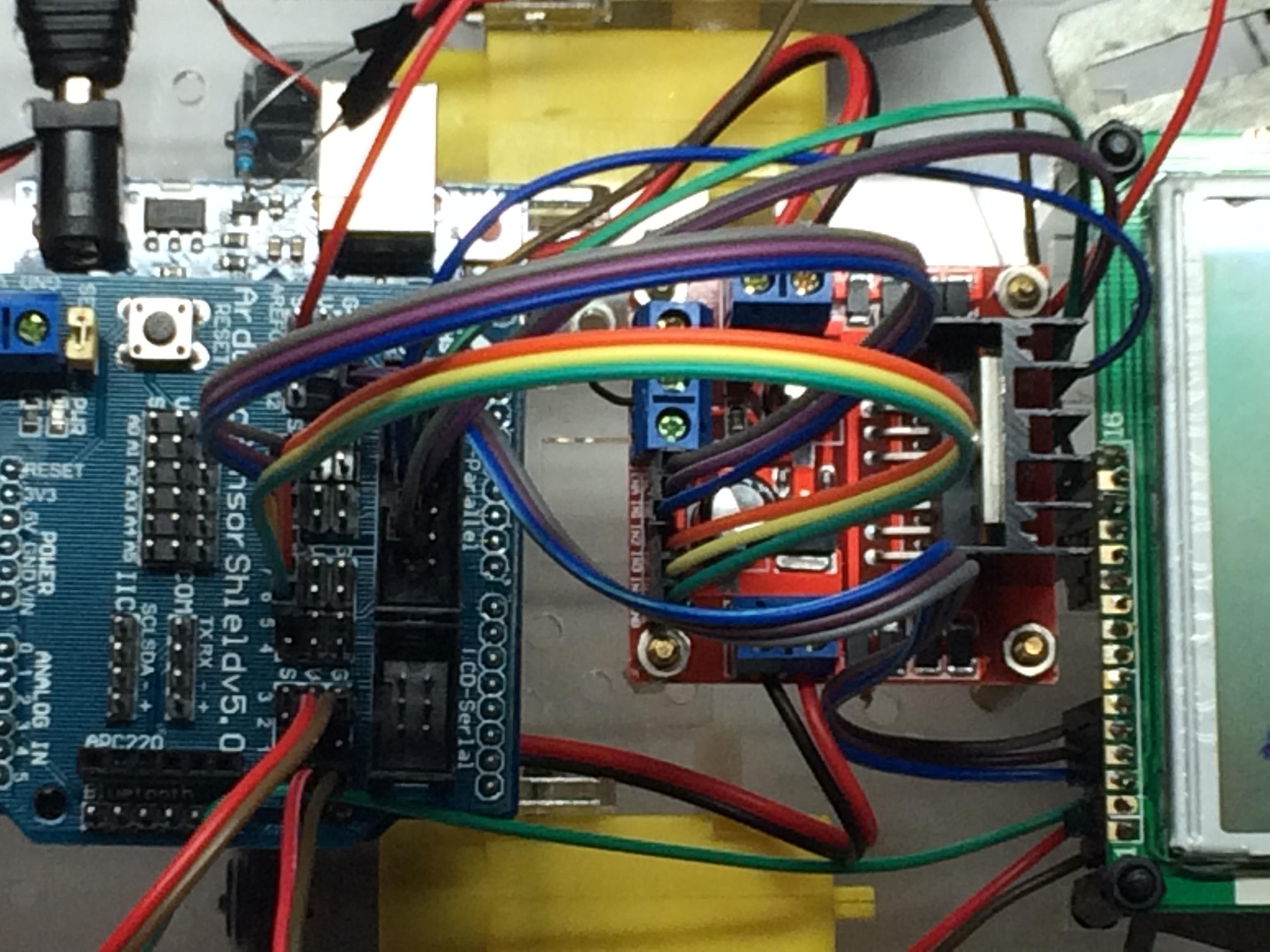 Arduino LCD using Sensor Shield V5