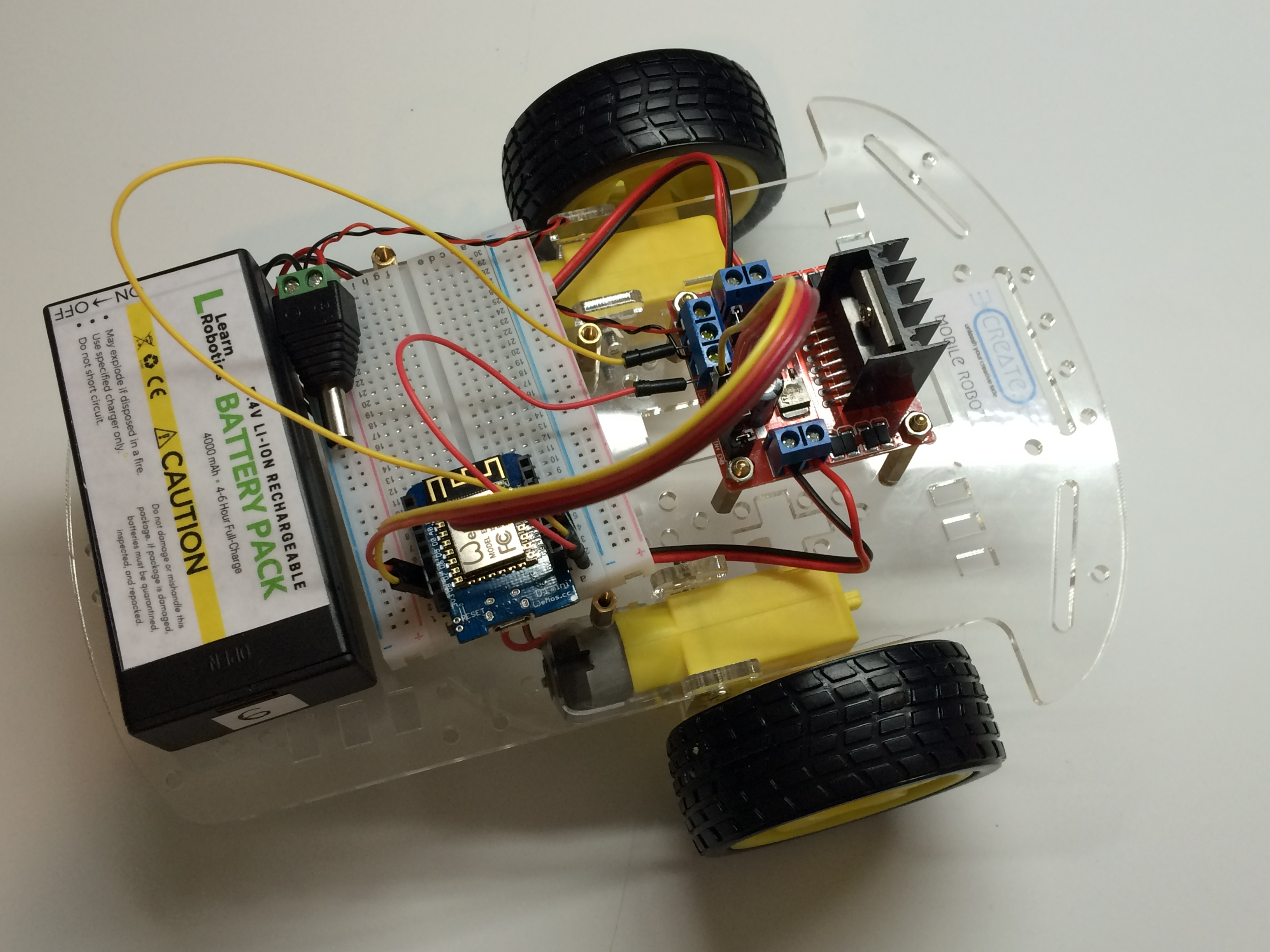 wemos wifi controlled robot using l298n