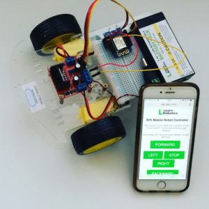 wemos wifi controlled robot using l298n