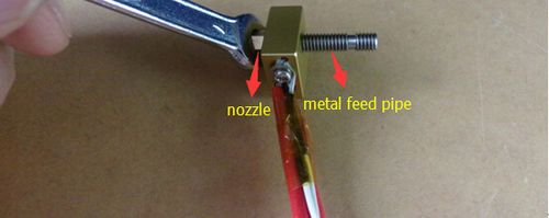 how to take apart extruder nozzle