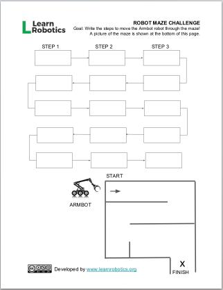 Robot Maze Challenge for K-6 Students - Learn Robotics