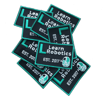 robot patches for hats, tees, bags