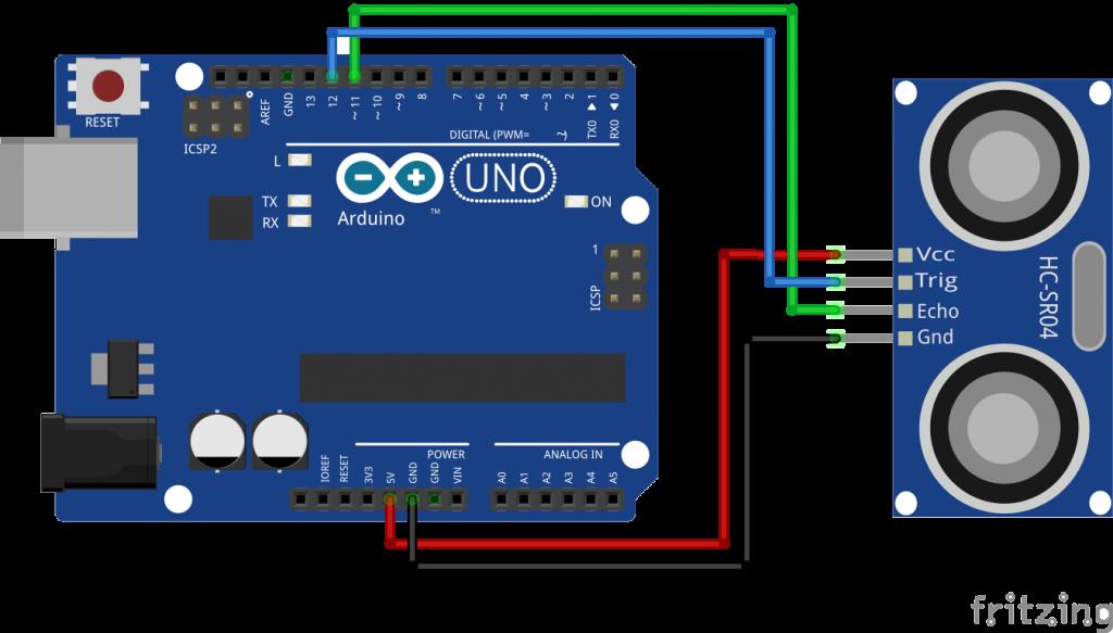 robot using arduino and ultrasonic sensors
