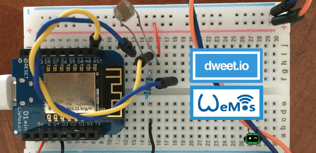 How to use Dweet.io with Wemos D1 Mini (Arduino Tutorial)