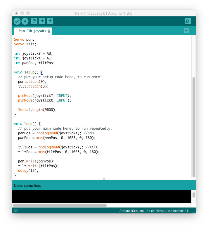 The Complete Guide to Program Pan/Tilt Servos - Learn Robotics