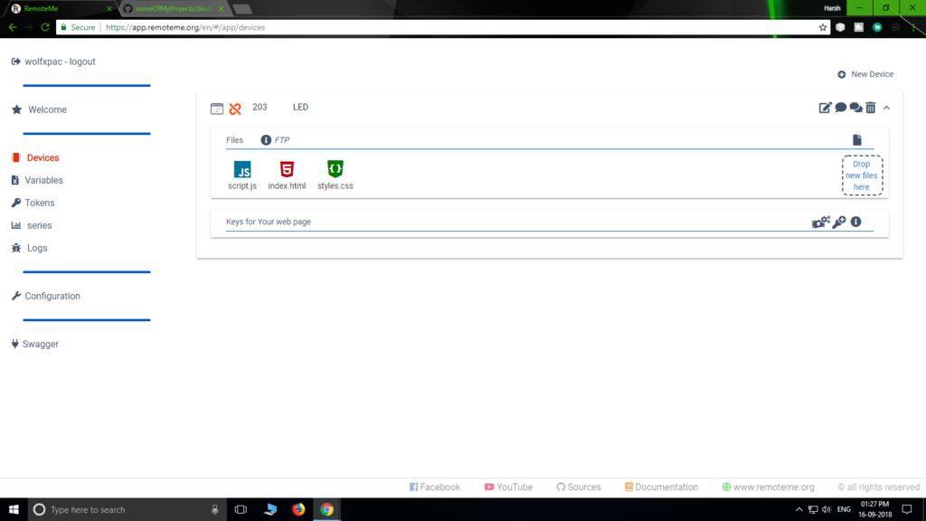 Configure webpage for NodeMCU