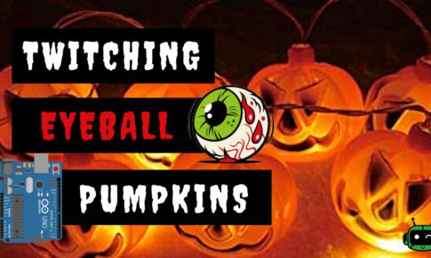 Arduino Halloween Project: Twitching Eyeball Pumpkin