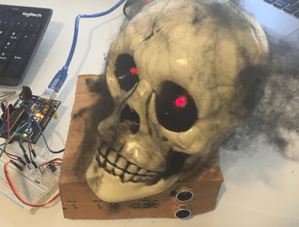 Animated Skull using Arduino Halloween Project