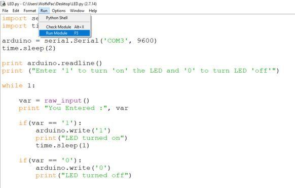 Arduino Python Communication