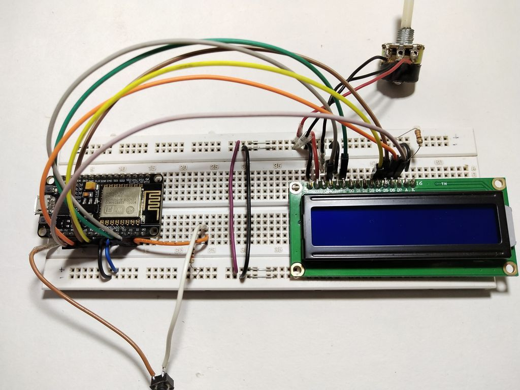 Weather Station with NodeMCU and LCD Tutorial