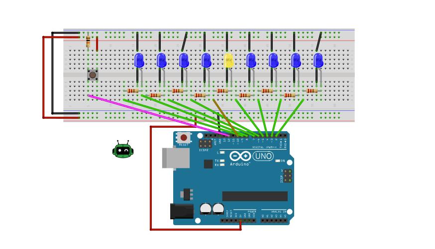 build a Hanukkah menorah using Arduino and LED's