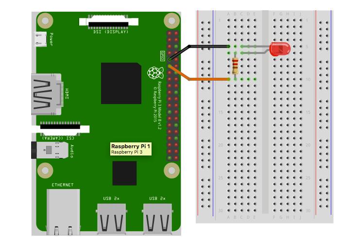 Raspberry Pi Node-RED LED Wiring