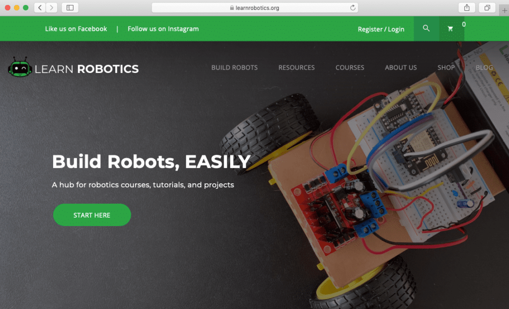 Learn Robotics Homepage