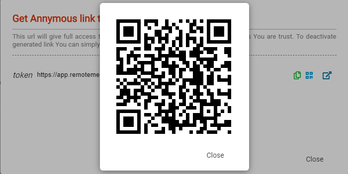 QR code RemoteMe