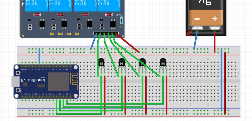 NodeMCU IoT relay circuit project ideas