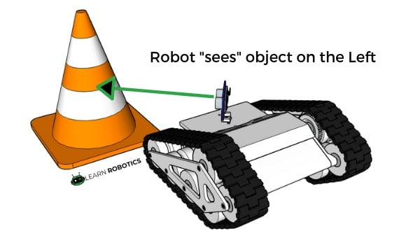 robot tank ultrasonic sensor