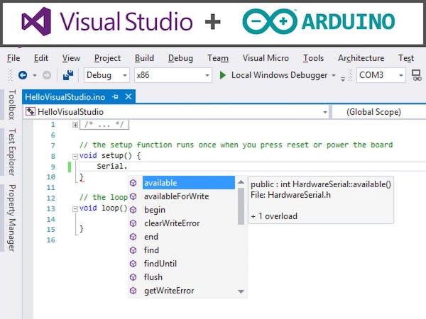 Arduino IDE alternative with Visual Studio