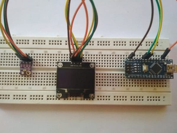 prototyping with BME280 and OLED display