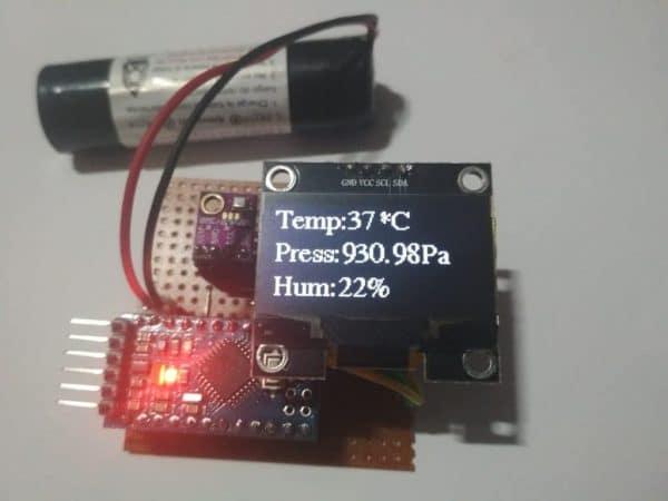 arduino weather station circuit prototype