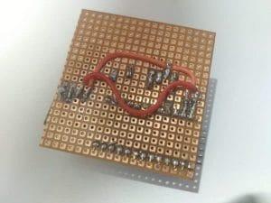 soldered perf board prototype
