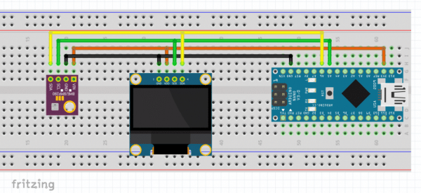 Arduino weather station BME280 sensor
