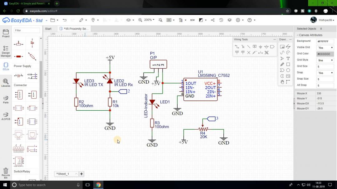 Circuit Diagram in EasyEDA