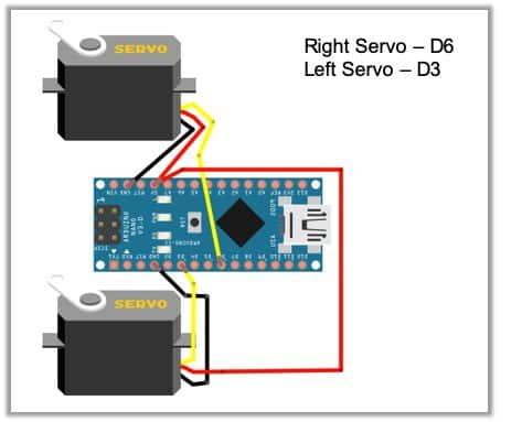 diy robot wiring fritzing