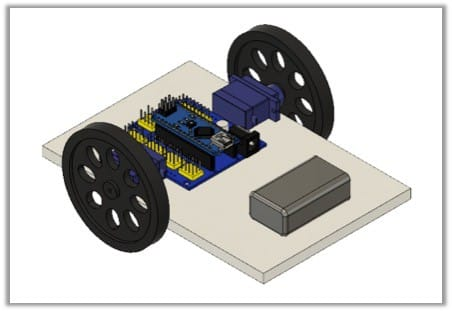 mount the battery to your robot