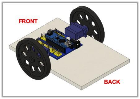 mount Arduino nano to mobile robot