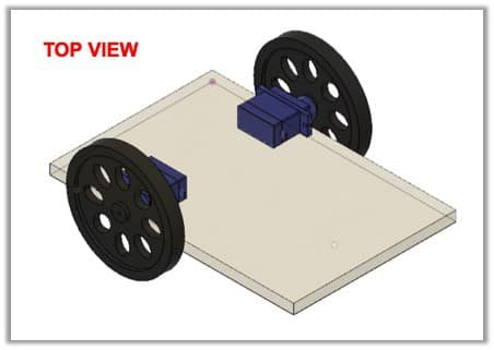 attach the wheels to servo motors for your robot
