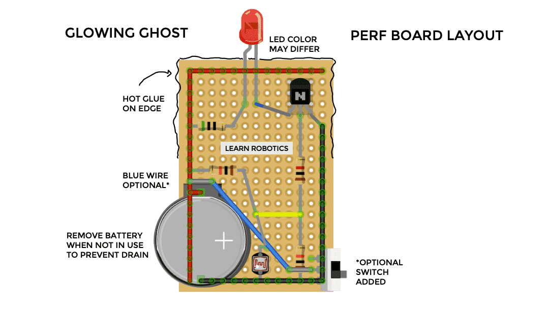 perf board layout diagram glowing ghosts