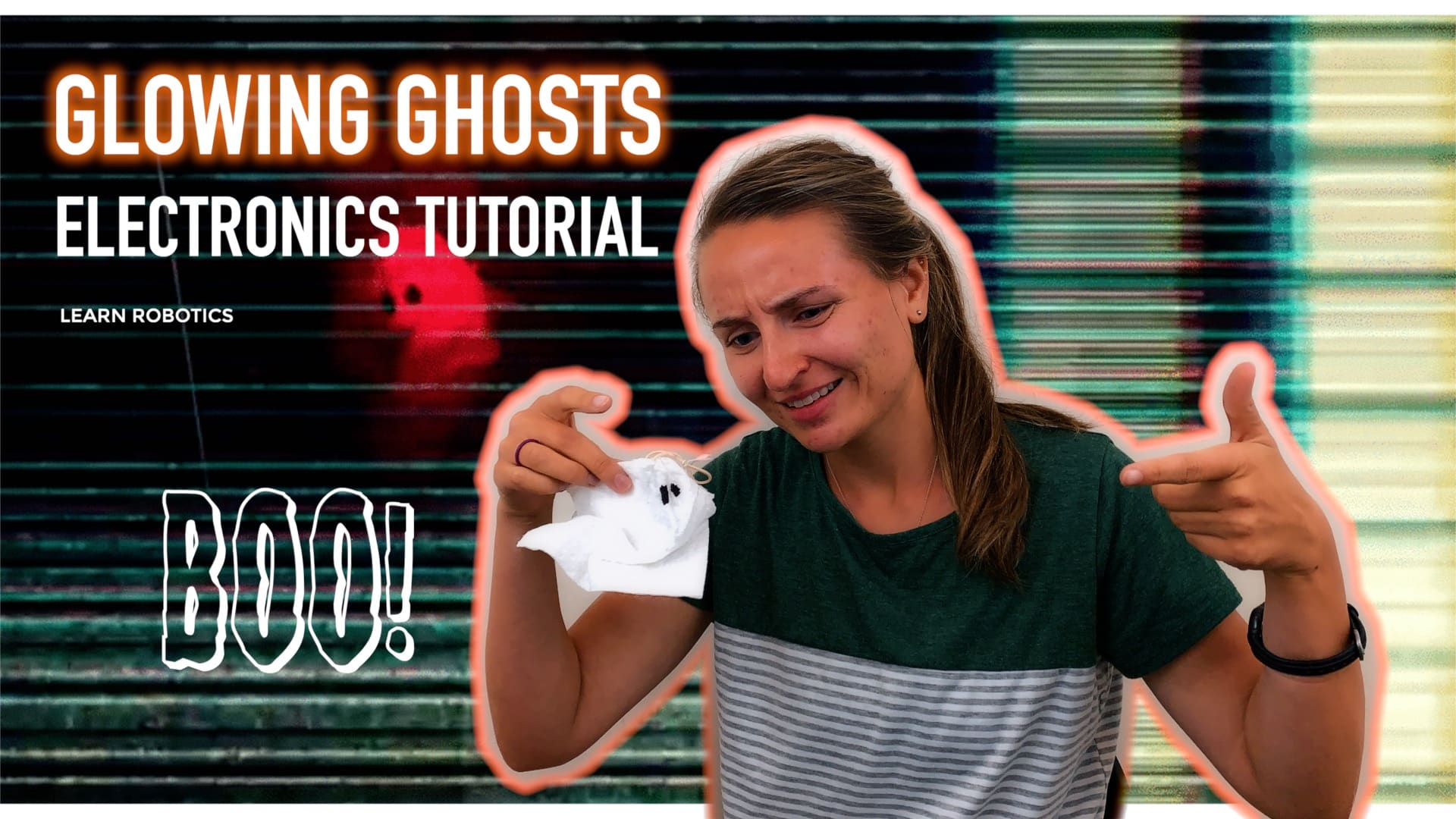 glowing ghosts project using circuits STEM education electronics halloween diy