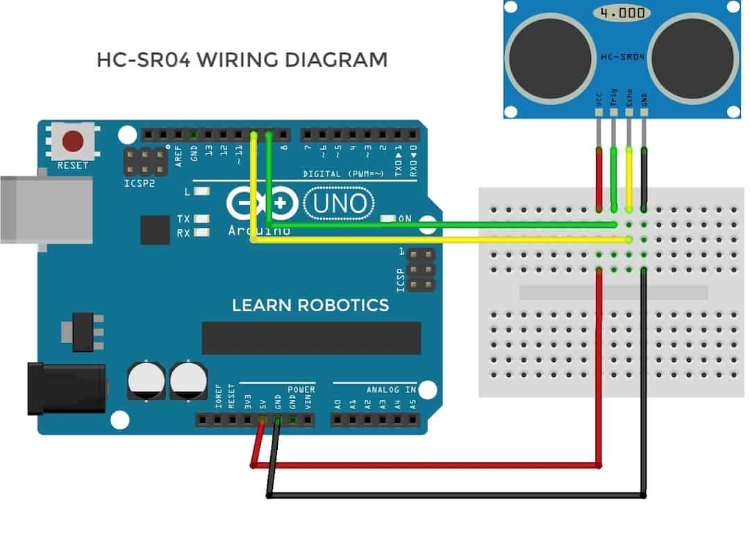 HC-SR04 ultrasonic sensor pin diagram