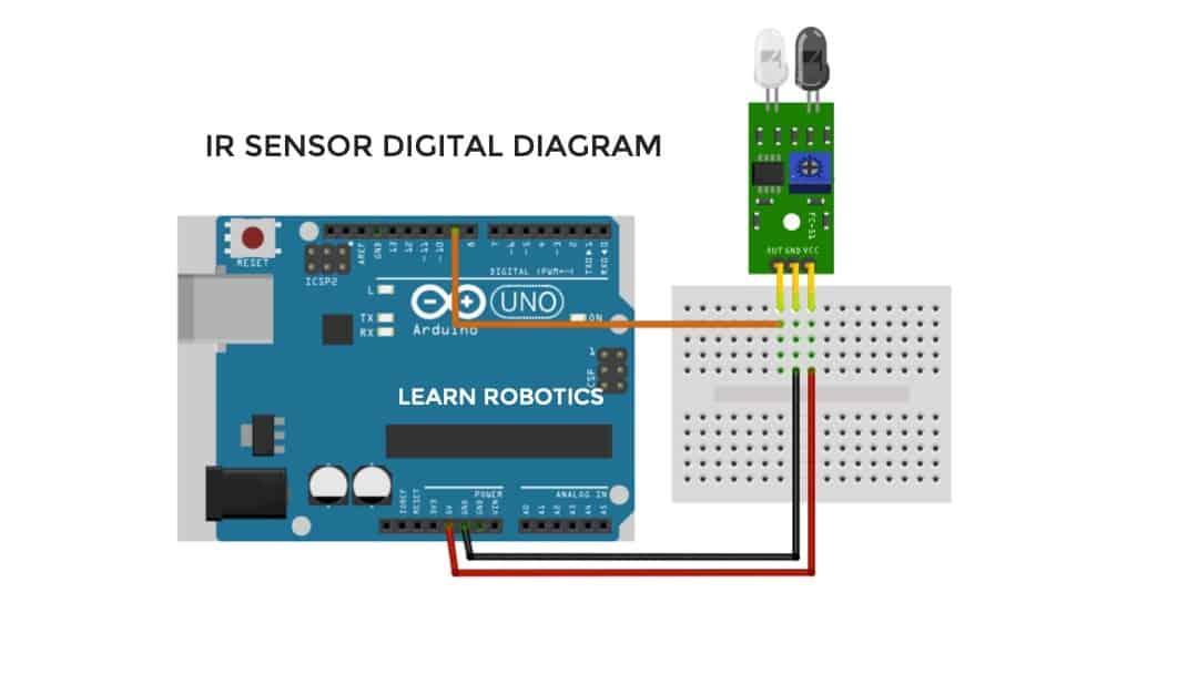 IR Sensor fritzing diagram Arduino Uno