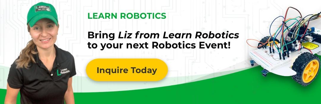 Liz from Learn Robotics STEM Education Speaker and Robotics Engineer