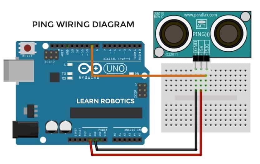 PING ultrasonic sensor pin diagram