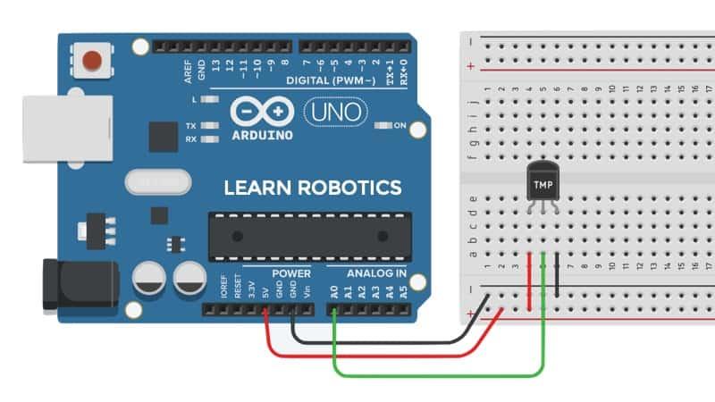 TMP36 Arduino wiring diagram