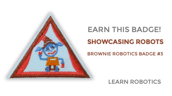 showcasing robots brownie girl scouts