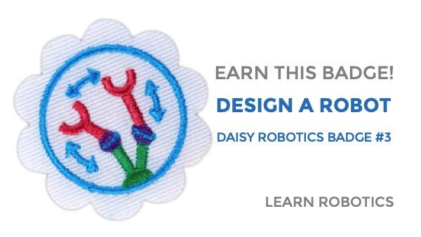 design a robot badge daisy girl scouts