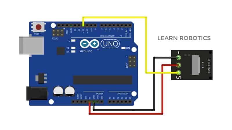 IR receiver wiring diagram to Arduino
