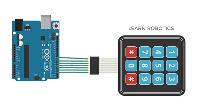 keypad wiring fritzing diagram Arduino