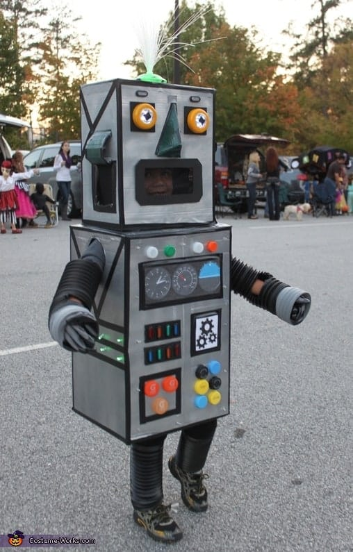 light up robot costume