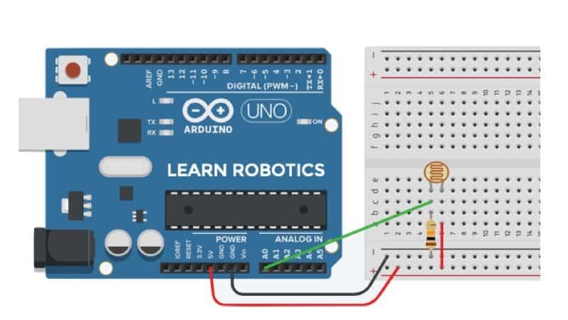 wire photoresistor to Arduino diagram