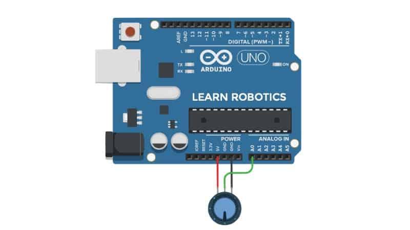 potentiometer arduino wiring diagram