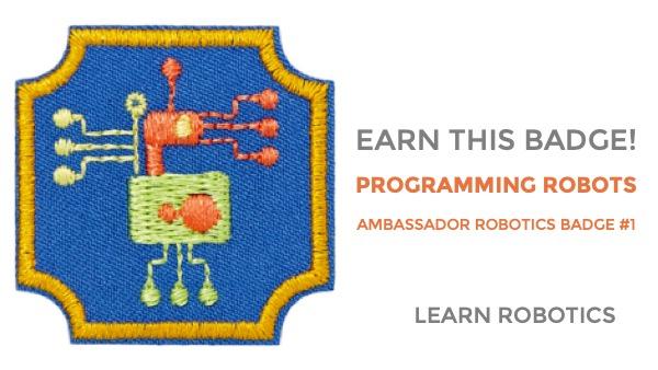 programming robots ambassador robotics badge