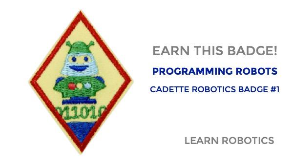 programming robots cadette robotics badge