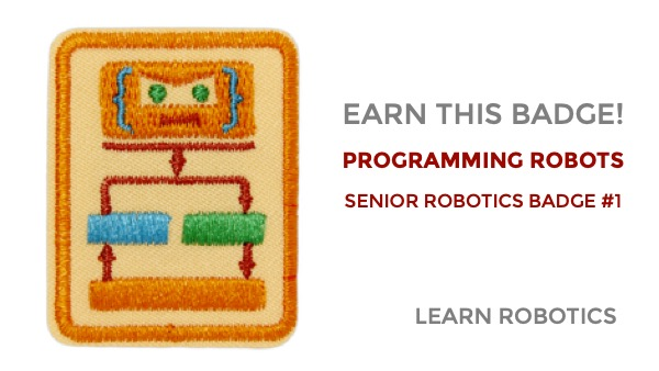 programming robots senior robotics badge
