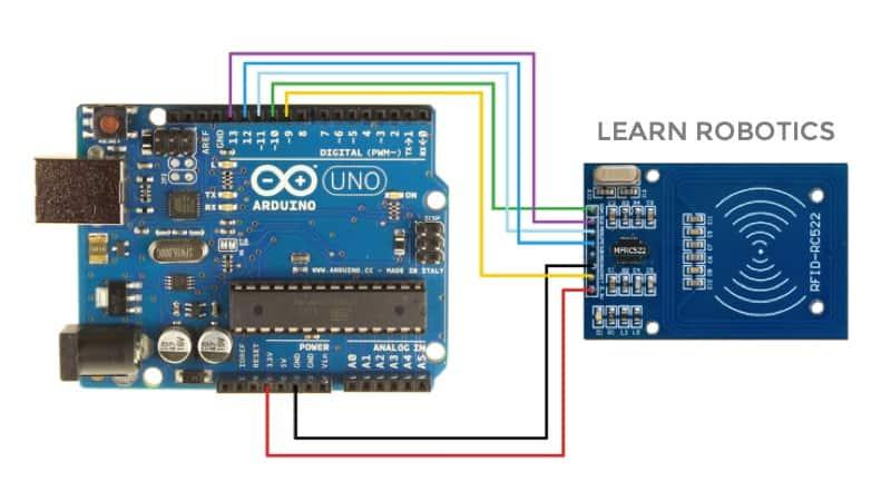 RFID Arduino diagram